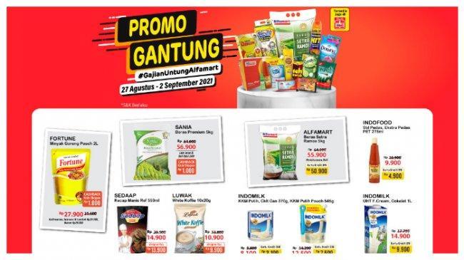 Promo Gantung Alfamart 29 Agustus 2021, Harga Beras 5 Kg Rp 56.900, Minyak Goreng 2L Rp 27.900