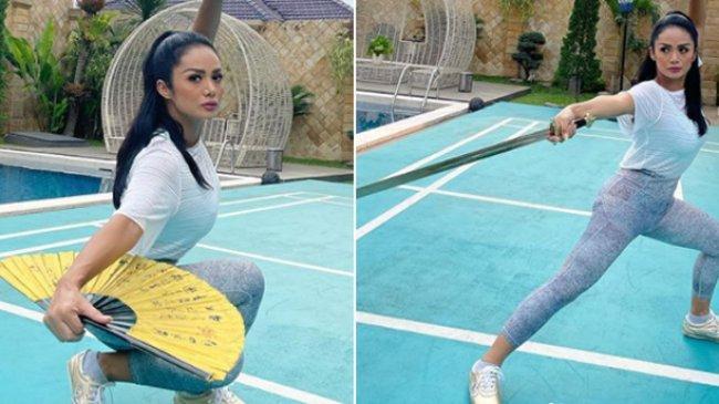 Krisdayanti Pamer Pose Sedang Wushu, Ajak Olahraga Rutin untuk Jaga Imun Tubuh