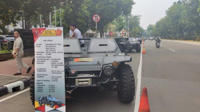 H-1 HUT Ke-76 TNI, Ini Spesifikasi dan Kekuatan 6 Kendaraan Taktis di Jalan Medan Merdeka Barat