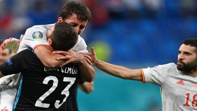 Lima Catatan Menarik Swiss vs Spanyol Euro 2021: Rekor Gol Bunuh Diri hingga Kebangkitan Unai Simon