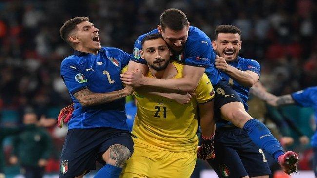 Kocak, Gianluigi Donnarumma Tak Sadar Kalau Italia Sudah Menang Saat Penalti Bukayo Saka Gagal