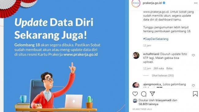 Kartu Prakerja Gelombang 18 Segera Dibuka, Pendaftaran Hanya di Situs Resmi www.prakerja.go.id
