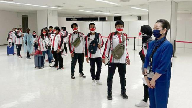 Rombongan Kedua Kontingan Indonesia untuk Olimpiade Tokyo Tiba di Jepang