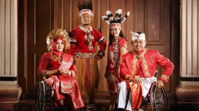 Seragam Defile Kontingen Indonesia di Paralimpiade Tokyo Usung Tema Keindahan dan Keragaman Budaya