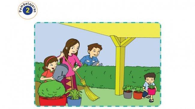 Kunci Jawaban Tema 4 Kelas 2 SD Halaman 12, 13, 14, 15, 16, 17 dan 18 Halaman Rumah yang Bersih