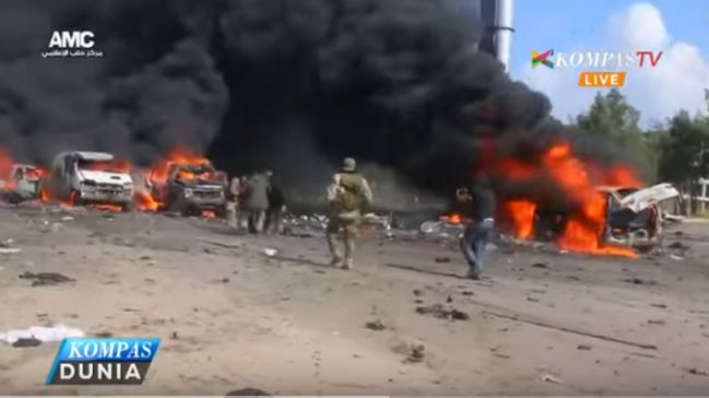 Ledakan Bom Tewaskan 112 Warga Suriah yang Hendak Mengungsi