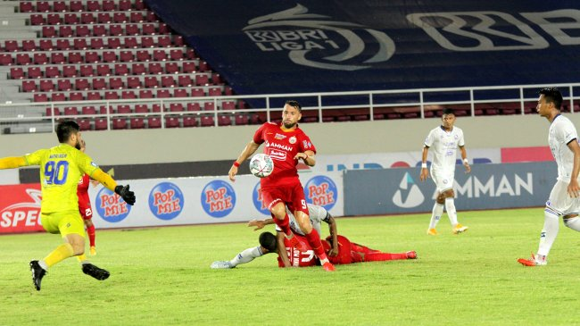 Hasil Madura United vs Persija BRI Liga 1 Babak I - Gol Roket Simic Bawa Macan Kemayoran Unggul 0-1