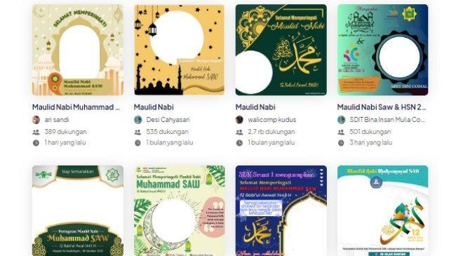 LINK Twibbon Maulid Nabi Muhammad SAW 1443 H /2021 M, Berikut Cara untuk Membuatnya