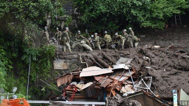 Tanah Longsor di Atami Jepang: Setidaknya 3 Orang Tewas dan 80 Lainnya Hilang