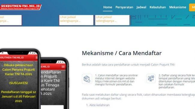 Lowongan Kerja Perwira Prajurit Karier TNI Tahun 2021, Dibuka hingga 29 Oktober 2021