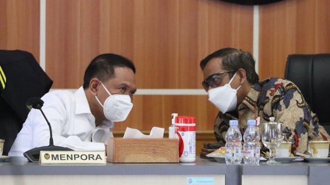 Zainudin Amali Laporkan Hasil Penyelenggaraan PON Papua saat Rapat dengan Menko Polhukam