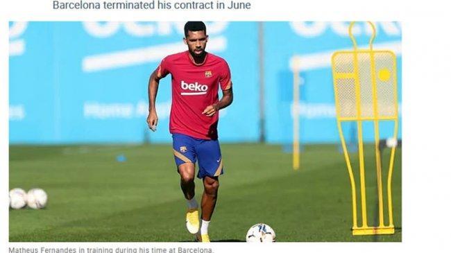 Matheus Fernandes Berencana Tuntut Barcelona Lewat Jalur Hukum