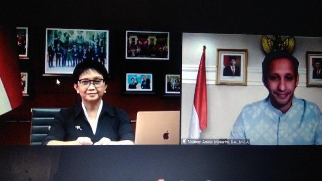 Menlu – Mendikbudristek Luncurkan Buku Bahan Pengajaran ASEAN untuk Pendidikan Dasar dan Menengah