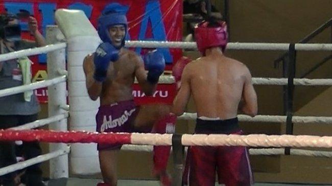Muhamad Riski Nurohman Raih Kemenangan Mutlak Selekda Kickboxing Jawa Tengah