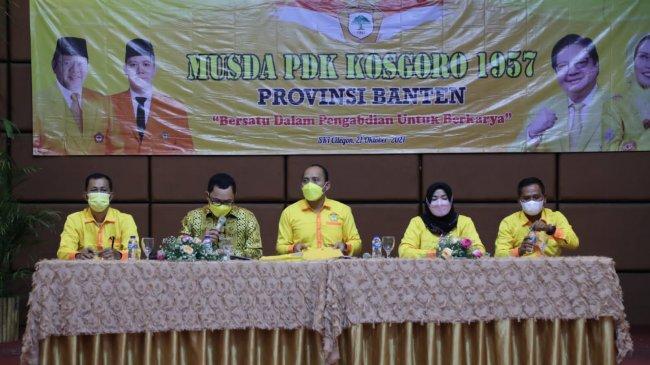 Arnod Sihite Bawa Semangat Tri Sukses Golkar di Musda Kosgoro 1957 Banten