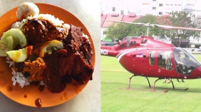 Viral Helikopter Mendarat untuk Ambil 36 Pesanan 'Nasi Ganja', Polisi Malaysia Selidiki