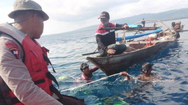 Nelayan Poso Hilang Usai Terlilit Tali Tombak, Terseret Penyu Masuk dalam Laut