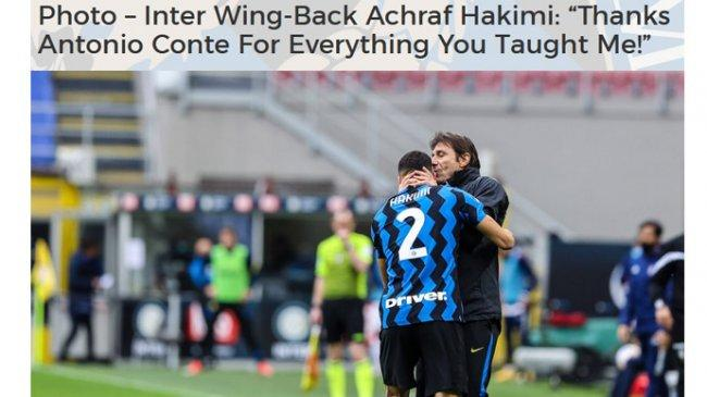 Berita Inter, Conte Ungkap Achraf Hakimi 'Menderita' Bersama Nerazzurri, Akan Kembali ke Real Madrid