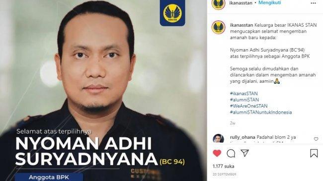 Profil Nyoman Adhi Suyadnyana, Anggota BPK yang Dipersoalkan Yusril hingga Surati Puan Maharani