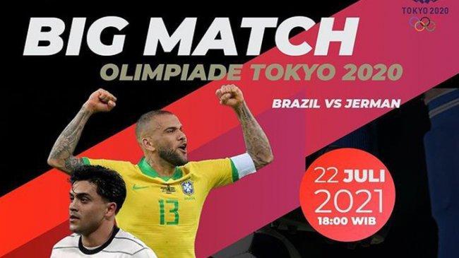 Jadwal Siaran Langsung Sepak Bola Olimpiade:Brasil U-23 vs Jerman U-23 Live TVRI dan Streaming Vidio