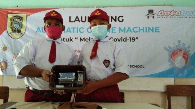 Ingin PTM Bebas Covid-19, Siswa SD di Klaten Ciptakan Automatic Ozone Machine untuk Sterilkan Udara