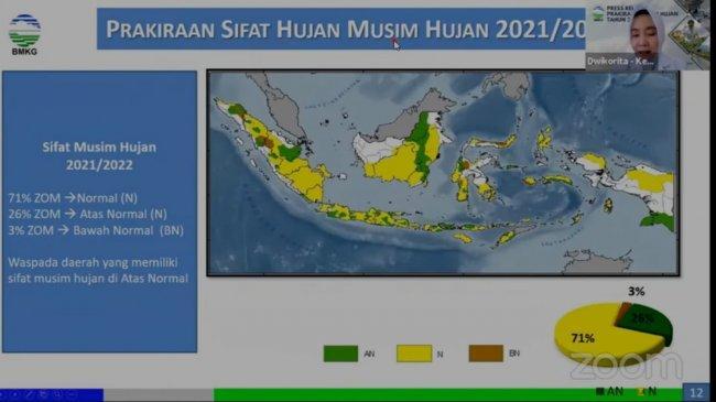 Prediksi BMKG: Awal Musim Hujan September 2021, Sebagian Wilayah Alami Hujan Intensitas Tinggi