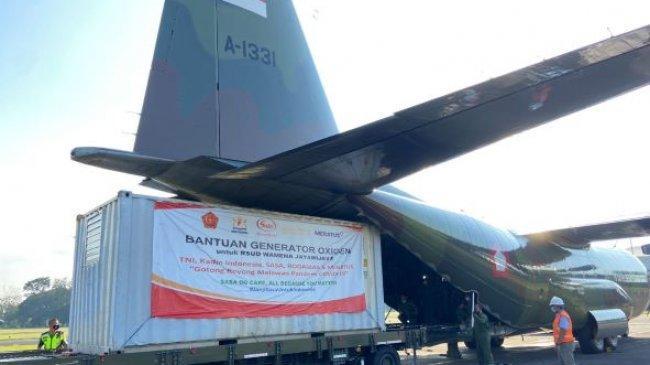 TNI Kirim Bantuan Generator Oksigen untuk RSUD Wamena