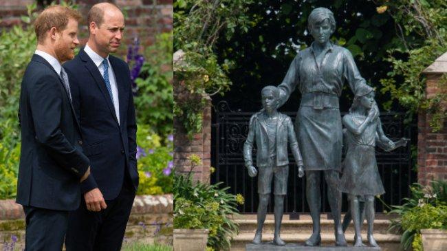 Patung Putri Diana: Dikelilingi 3 Anak, Pangeran William dan Harry Menyingkapnya untuk Pertama Kali