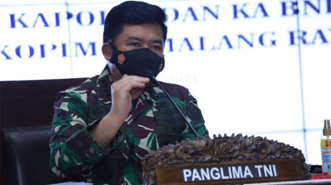 Panglima TNI Soroti Turunnya Tren Kasus Konfirmasi Positif Covid-19 di Malang