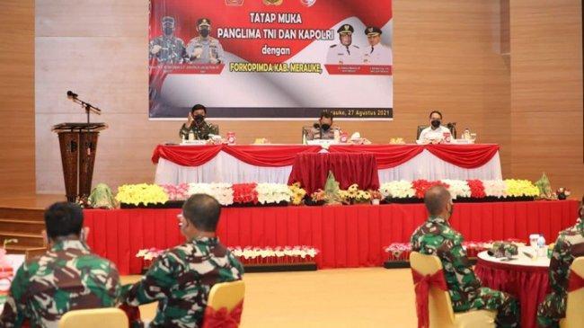 Panglima TNI Apresiasi Penanganan Covid-19 di Kabupaten Merauke