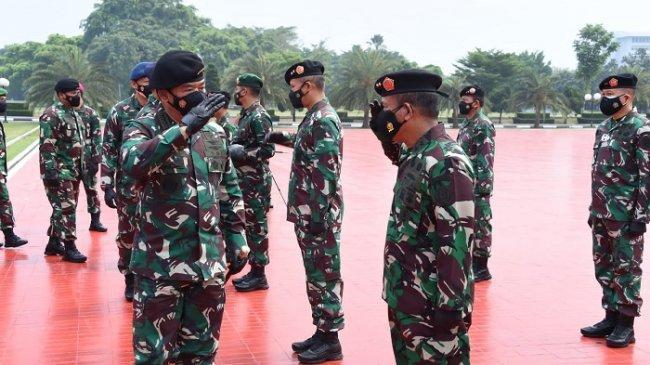 Panglima TNI Terima Laporan Korps Kenaikan Pangkat 44 Perwira Tinggi, Berikut Daftar Namanya