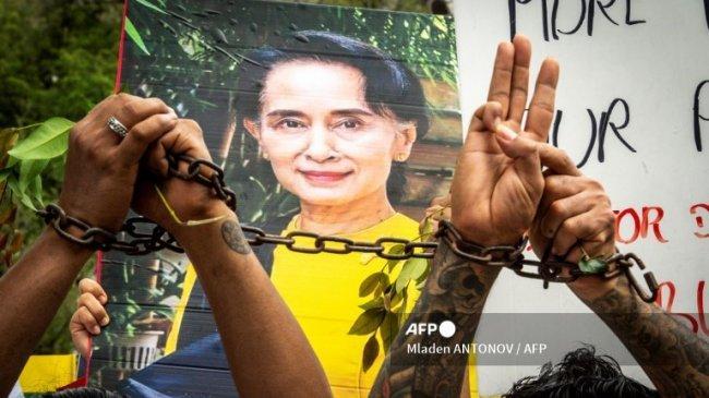 PBB Desak Junta Militer Myanmar Bebaskan Aung San Suu Kyi