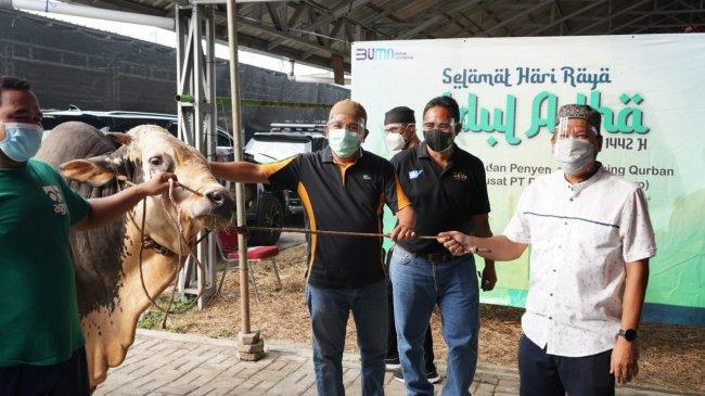 Pegadaian Salurkan 4,6 Ton Daging Qurban di DKI Jakarta dan Sekitarnya