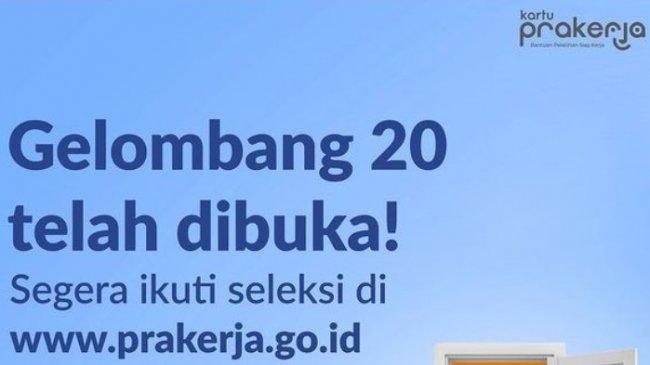 LOGIN Prakerja.go.id untuk Daftar Kartu Prakerja Gelombang 20, Klik Gabung untuk Ikuti Seleksinya