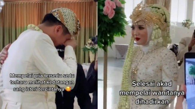 VIRAL Pengantin Pria Menangis Dipertemukan dengan Istri setelah Akad Nikah, Begini Kisah Lengkapnya