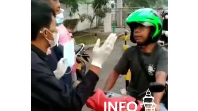 Pengendara Motor Tolak Pakai Masker di Serang Ditangkap: ''Hidup Mati Saya hanya Allah yang tahu''