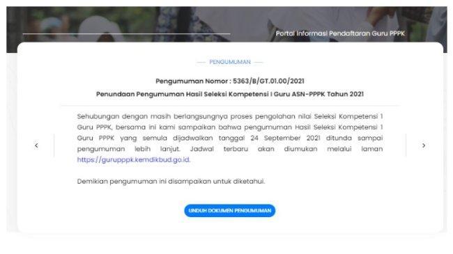 Kapan Pengumuman PPPK Guru 2021 Tahap I? Cek Link gurupppk.kemdikbud.go.id