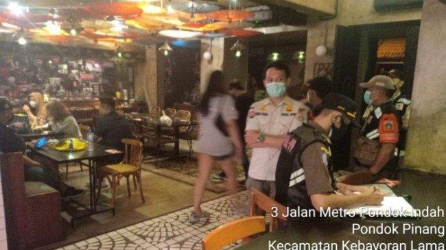 Langgar PPKM Level 3, Resto dan Bar di Pondok Indah Ditutup 3x24 Jam dan Didenda Rp 10 Juta