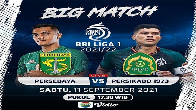 Live Streaming Indosiar, Persebaya vs Persikabo Pukul 18.15 WIB, BRI Liga 1 2021, Tonton Lewat HP