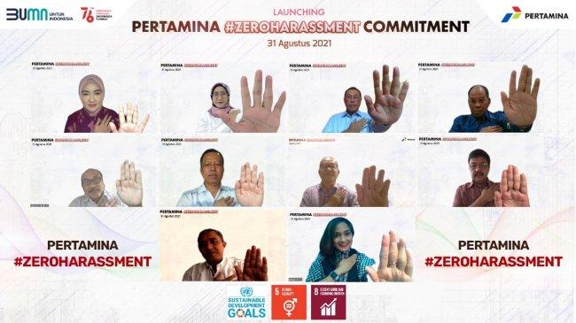 Pertamina Jadi BUMN Pertama Deklarasikan Komitmen Zero Harassment