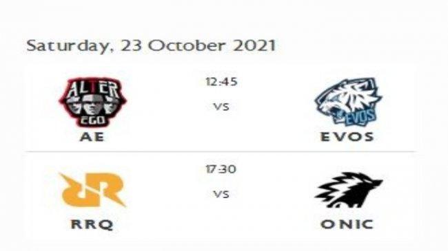 Jadwal Playoffs MPL ID Season 8, Hari Ketiga, Alter Ego vs EVOS Legends, RRQ Hoshi vs ONIC Esports