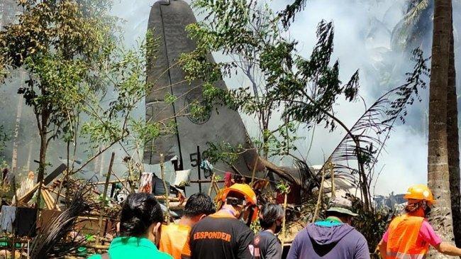 Pesawat Jatuh di Filipina Tewaskan 52 Orang Termasuk Warga Sipil, Kotak Hitam akan Diperiksa