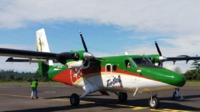 BREAKING NEWS Pesawat Rimbun Air Cargo Seri Twin Otter 300 Hilang Kontak di Intan Jaya