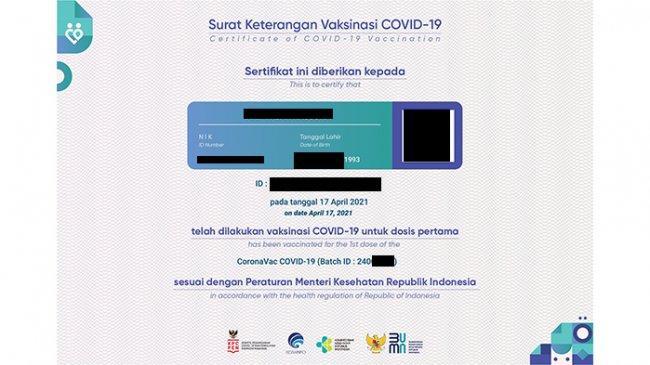 CARA Download Sertifikat Vaksin Covid-19 dan Cek Status di PeduliLindungi, Isi Nama Lengkap dan NIK