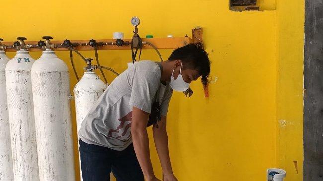 Permintaan Oksigen di Depot Isi Ulang Matraman Jakarta Timur Mulai Menurun