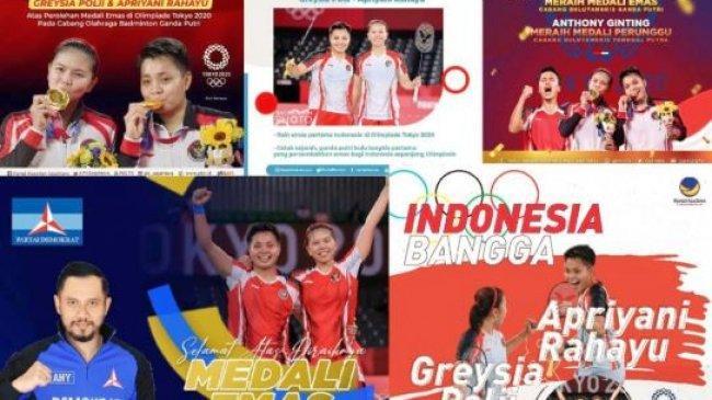 Wajah Politisi Hiasi Poster Greysia/Apriyani, Pengamat: Asal Foto Ketum Jangan Tutupi Wajah Atletnya