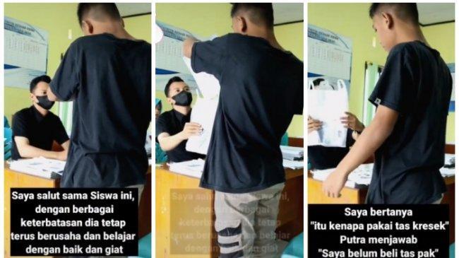 VIRAL Kisah Siswa Bawa Tas Kresek ke Sekolah, Pengunggah Bagikan Cerita Lengkapnya
