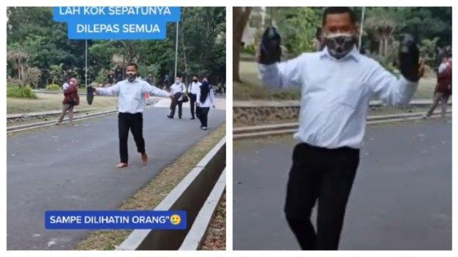 Viral Istri Temani Suami Tes CPNS di Semarang, Ini Cerita Haru di Balik Sepatu Diikat Pita Biru