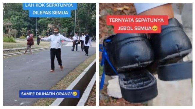 Suami Ikut Tes CPNS Pakai Sepatu Diikat Pita Biru, Istri Ungkap Rasa Syukur setelah Tahu Alasannya