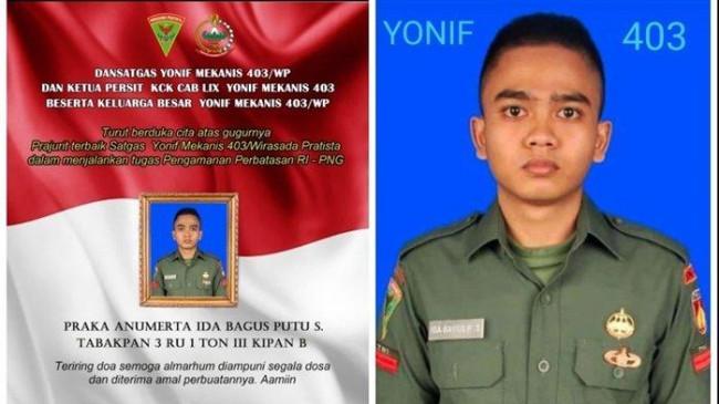 Prajurit TNI Gugur Saat Kawal Evakuasi Jenazah Suster Gabriella, Terlibat Baku Tembak dengan KKB